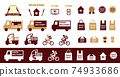 Delivery takeout icon set 74933686