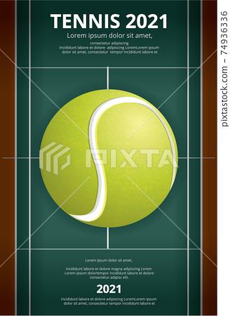 Tennis Championship Poster Vector illustration 74936336