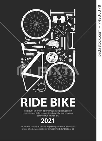 Cycling Poster Vector Illustration 74936379