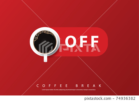 Coffee Poster Advertisement Flayers Vector Illustration 74936382
