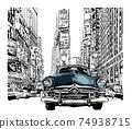 Old car in New York 74938715