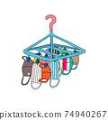 洗淨和烘乾各種口罩的彩色插圖 74940267