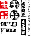 A set of 8 icons from Yamanashi prefecture. 74941773