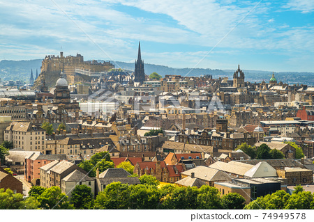 view over edinburgh from arthur seat, scotland, uk 74949578