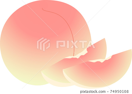 Illustration of delicious peach 74950108