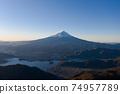Mt. Fuji Shindo Pass aerial view sunrise scenery scenery 74957789