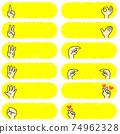 帶有各種手指標誌的橫幅 74962328