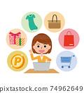 Women shopping online 74962649