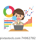 Woman doing data analysis 74962782