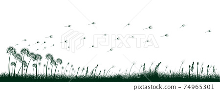 grass silhouettes 74965301