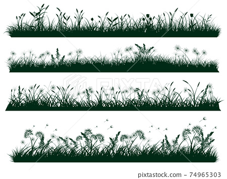 grass silhouettes 74965303