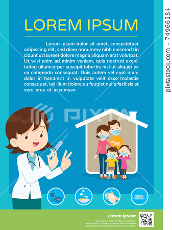 doctor injection Covid Vaccination poster template 74966184