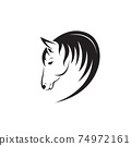 Vector of horse head design isolated on white background. Easy editable layered vector illustration. Animals. 74972161