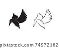 Vector of kingfishers bird design isolated on white background. Easy editable layered vector illustration. Wild Animals. 74972162