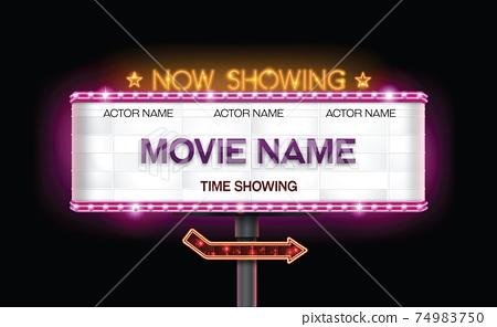 light sign billboard cinema 74983750