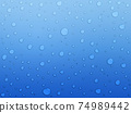 Water drops background material 74989442