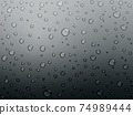 Water drops background material 74989444