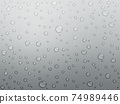 Water drops background material 74989446