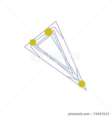 88星座系列A星座圖片和星座線在白色背景上-三角 74997623