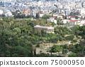 아테네의 고대 아고라와 거리 그리스 75000950