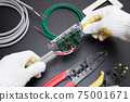 Electrical work Electrician Wiring work scene of switch and outlet Replacement work Expansion work Electrician Occupation 75001671