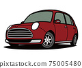 一點前光車紅色汽車圖 75005480