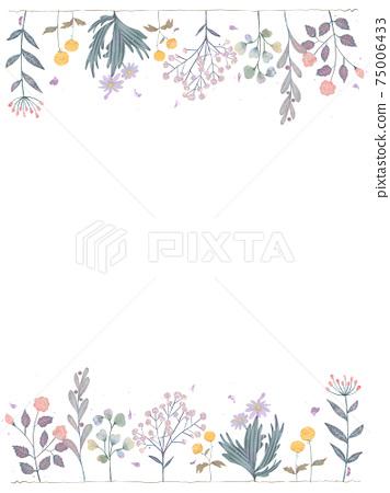 時興的植物和花卉白色背景的例證與柔和的春天顏色 75006433