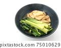 Boiled komatsuna and fried tofu 75010629