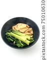 Boiled komatsuna and fried tofu 75010630