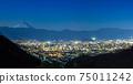 Night view of Mount Fuji and Kofu 75011242