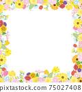 꽃 꽃 봄 꽃 프레임 프레임 일러스트 소재 75027408