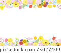 꽃 꽃 봄 꽃 프레임 프레임 일러스트 소재 75027409