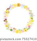 꽃 화환 꽃 봄 꽃 프레임 프레임 일러스트 소재 75027410