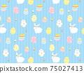 부활절 원활한 패턴 배경 수평 일러스트 소재 75027413