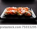 日式壽司蟹三文魚鮭魚子壽司 75033295