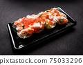 日式壽司蟹三文魚鮭魚子壽司 75033296