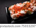 日式壽司蟹三文魚鮭魚子壽司 75033297