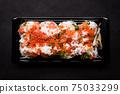 日式壽司蟹三文魚鮭魚子壽司 75033299