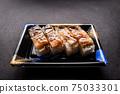 壽司康格爾鰻魚壓壽司日本一側 75033301