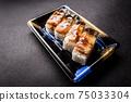 壽司康格爾鰻魚壓壽司日本一側 75033304