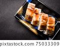 壽司康格爾鰻魚壓壽司日本一側 75033309