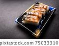 壽司康格爾鰻魚壓壽司日本一側 75033310