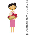 Material of the person. Image illustration of the party. Woman in formal dress. 75035783