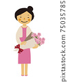 Material of the person. Image illustration of the party. Woman in formal dress. 75035785