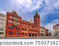 Basel Switzerland, city skyline at Basel Town Hall 75037162