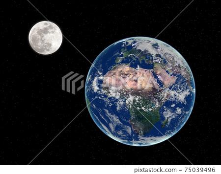 Earth and Moon 75039496
