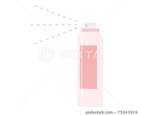 Vector illustration of spray can 75043919