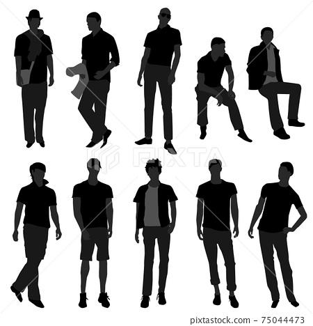 Man Men Male Fashion Shopping Model.  75044473