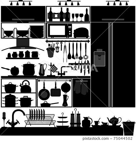 Kitchen Utensil Tool Interior Design Equipment.  75044502