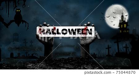 Halloween Concept in Fantasy Night 75044870